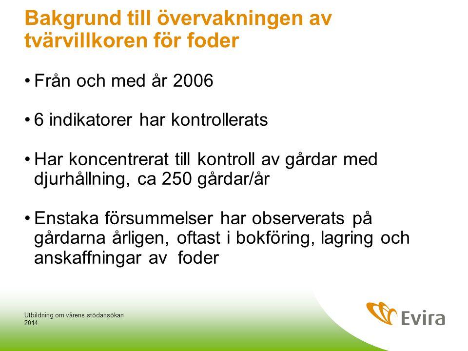 Bakgrund till övervakningen av tvärvillkoren för foder