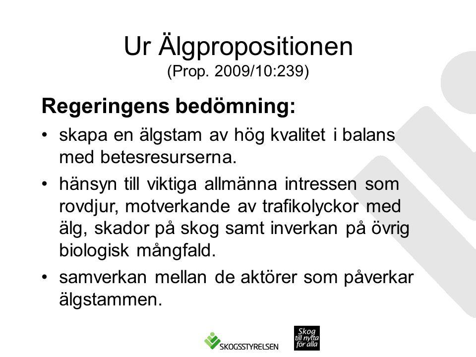 Ur Älgpropositionen (Prop. 2009/10:239)