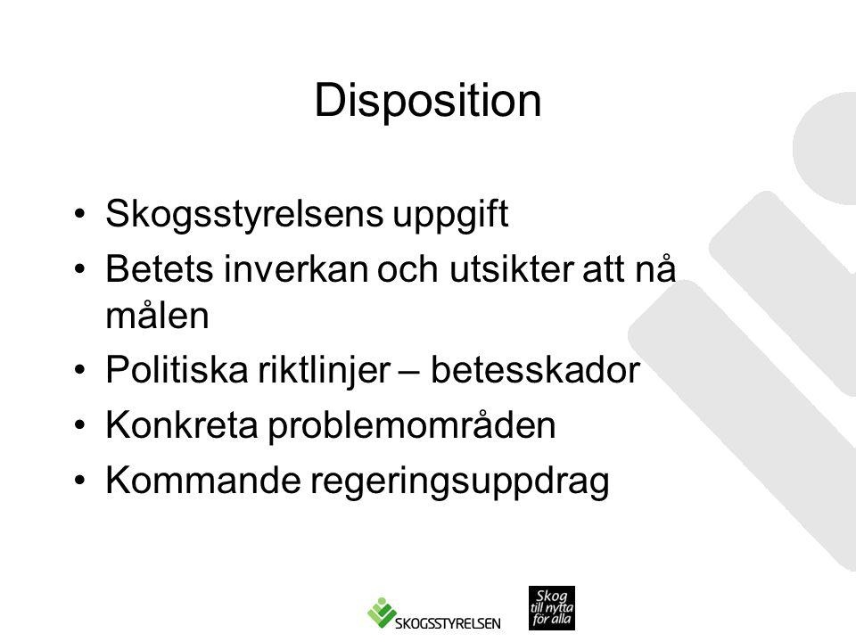 Disposition Skogsstyrelsens uppgift