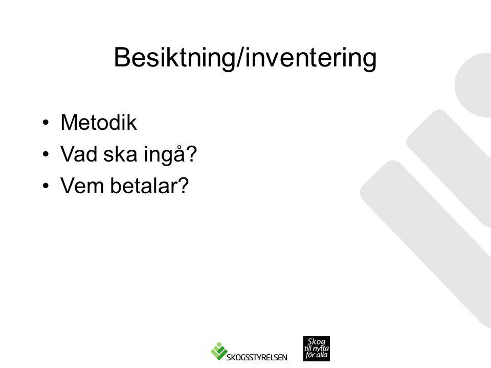 Besiktning/inventering
