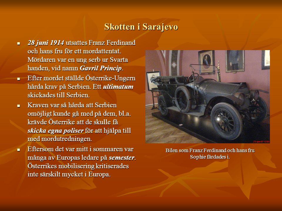 Bilen som Franz Ferdinand och hans fru