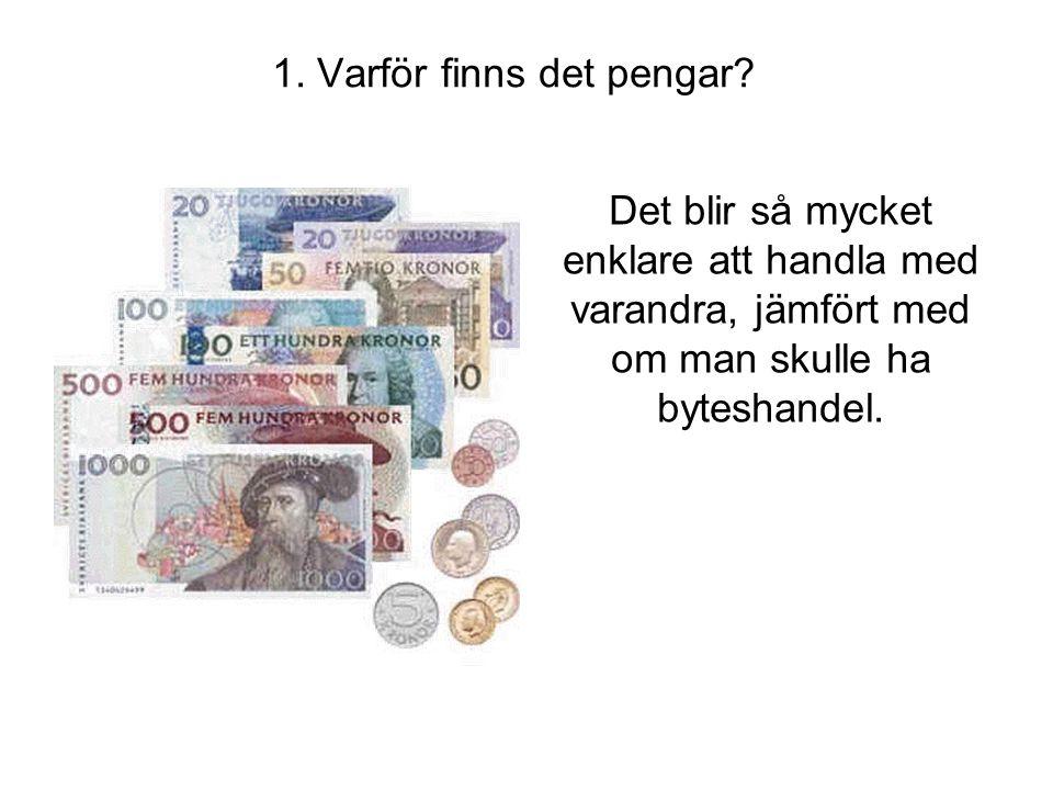 1. Varför finns det pengar
