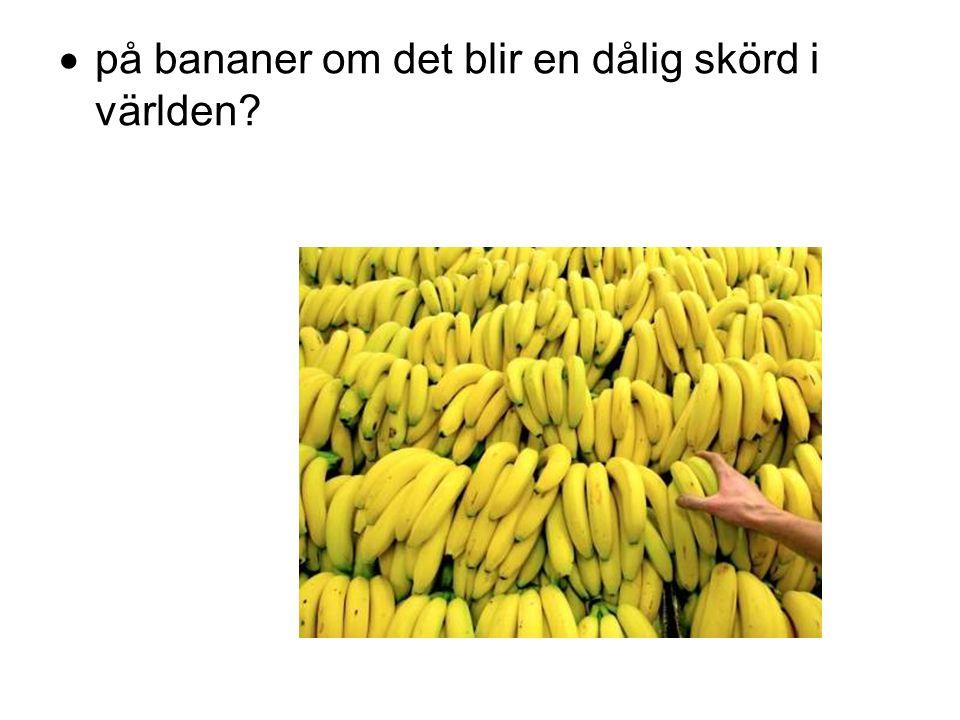 på bananer om det blir en dålig skörd i världen
