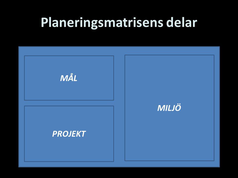 Planeringsmatrisens delar