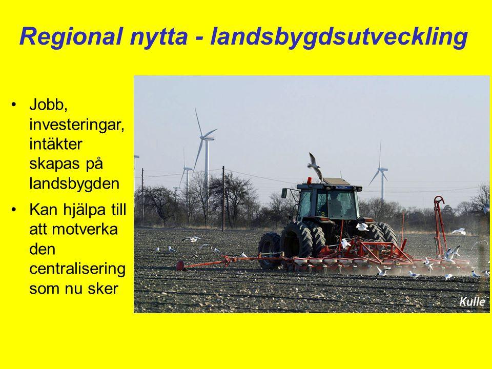 Regional nytta - landsbygdsutveckling