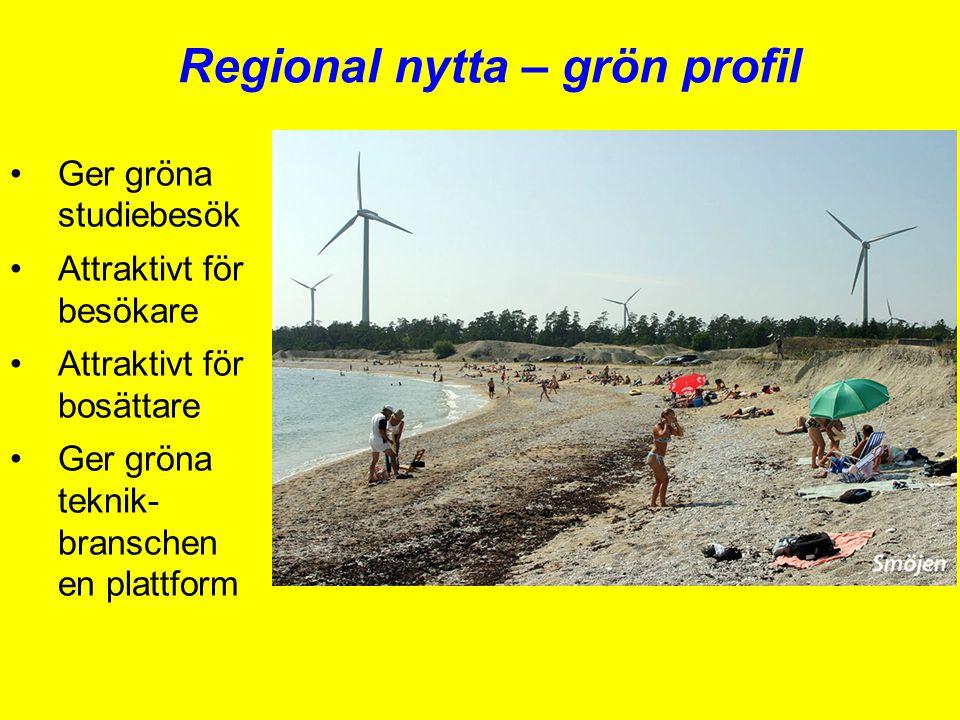 Regional nytta – grön profil