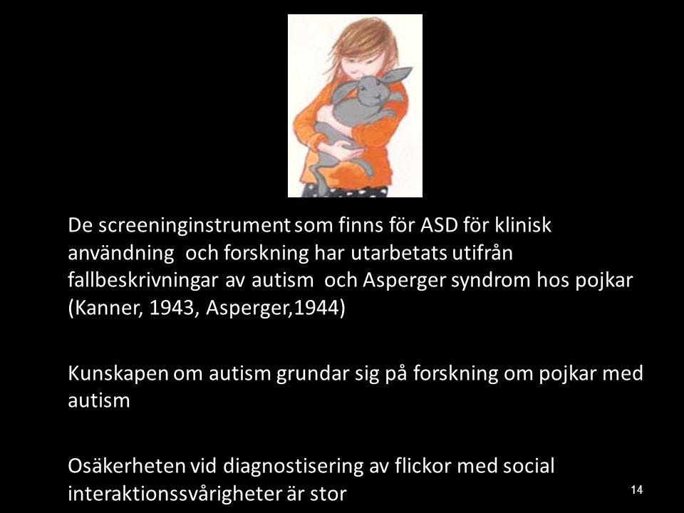 Kunskapen om autism grundar sig på forskning om pojkar med autism