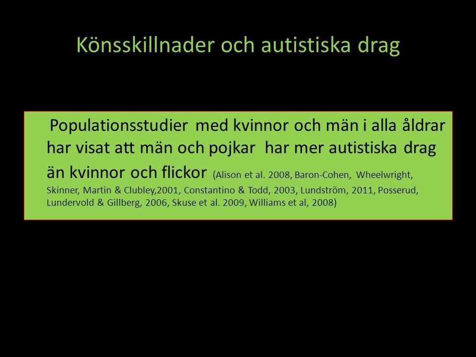 Könsskillnader och autistiska drag