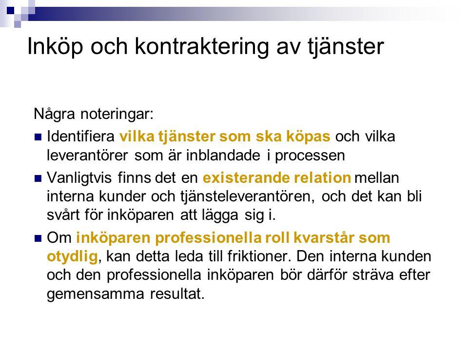 Inköp och kontraktering av tjänster