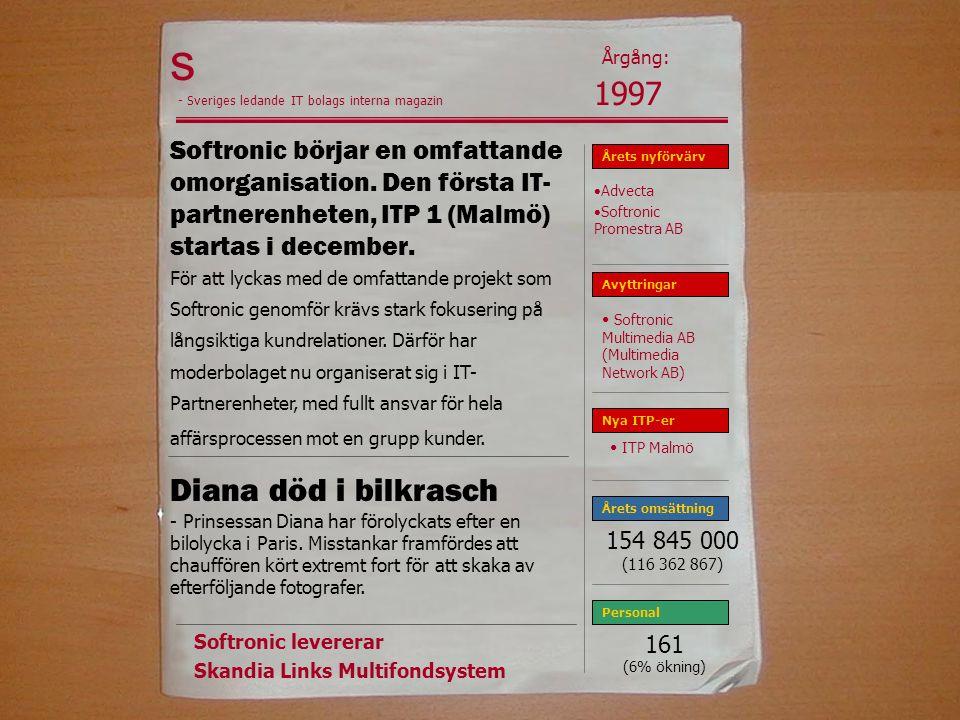 s Årgång: 1997. - Sveriges ledande IT bolags interna magazin.