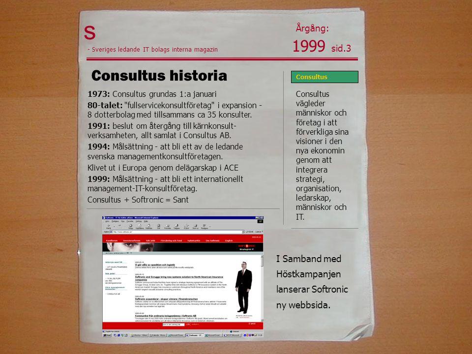 s 1999 sid.3 Consultus historia Årgång: