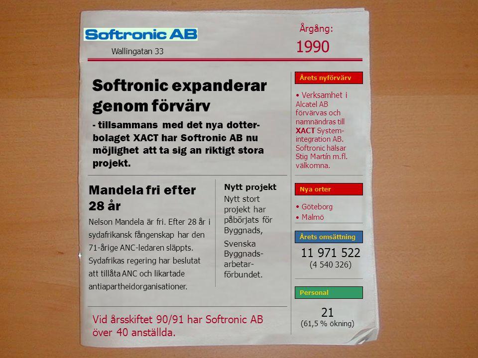 Softronic expanderar genom förvärv