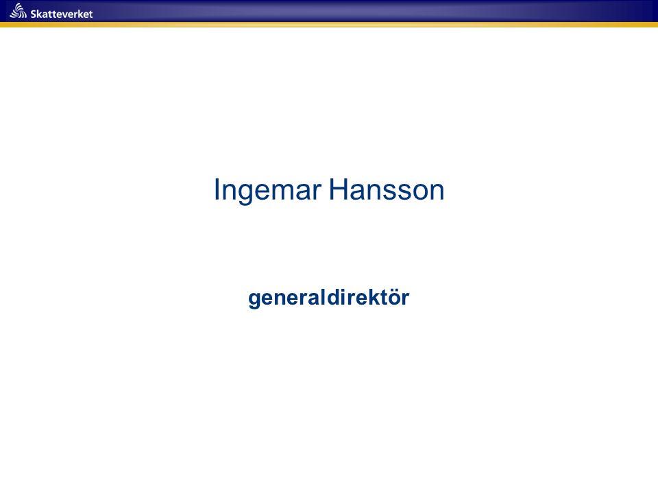 Ingemar Hansson generaldirektör