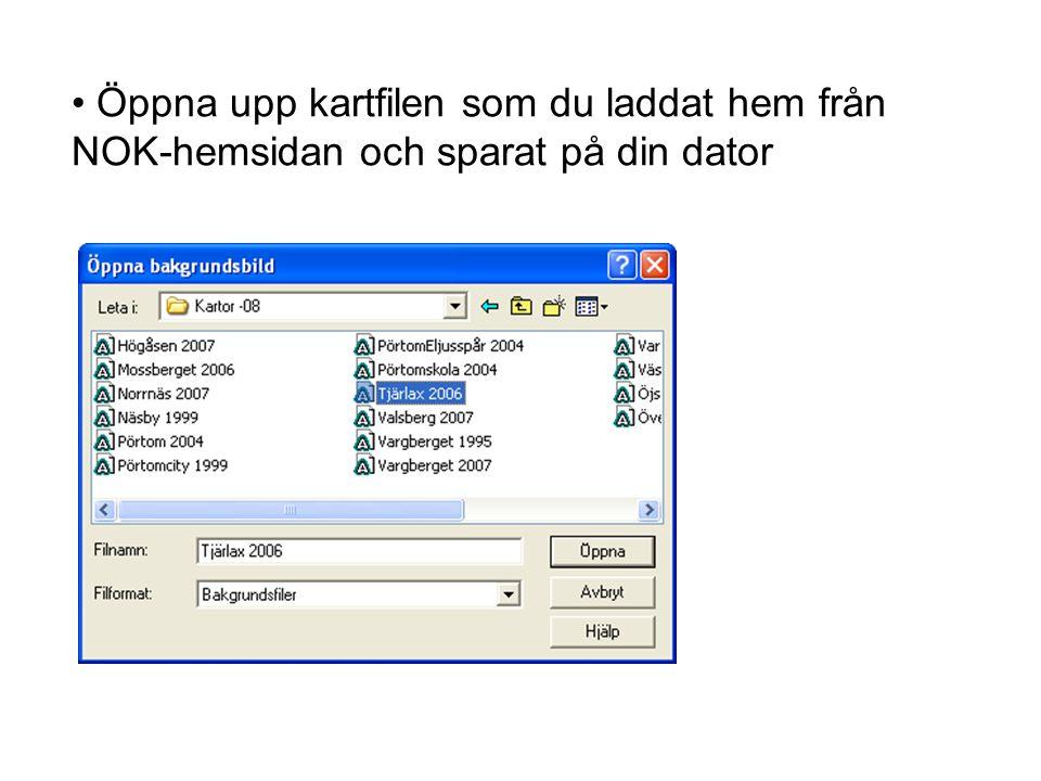 Öppna upp kartfilen som du laddat hem från NOK-hemsidan och sparat på din dator