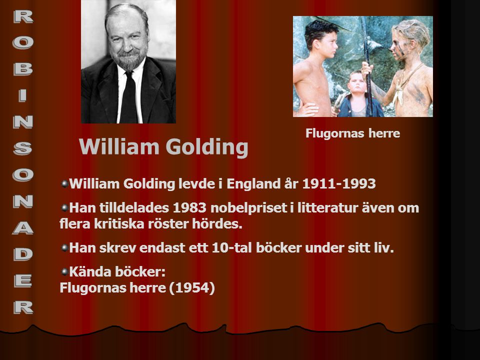 ROBINSONADER William Golding