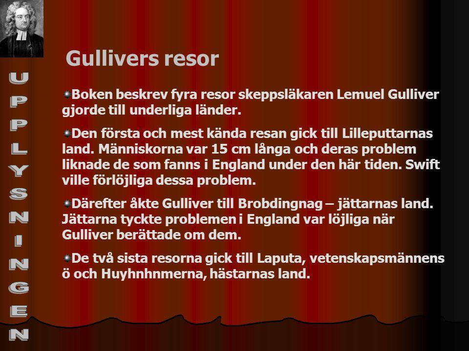 UPPLYSNINGEN Gullivers resor