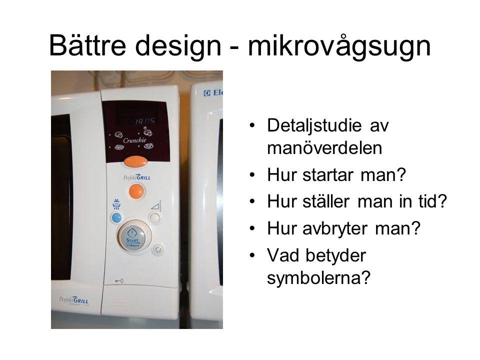 Bättre design - mikrovågsugn