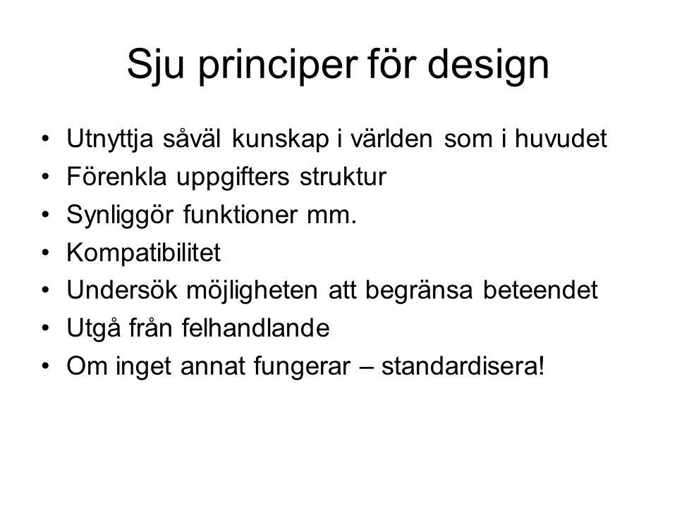 Sju principer för design