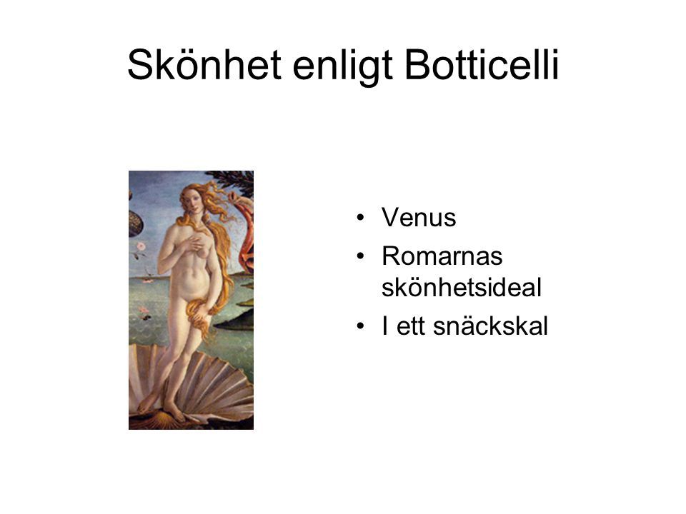 Skönhet enligt Botticelli