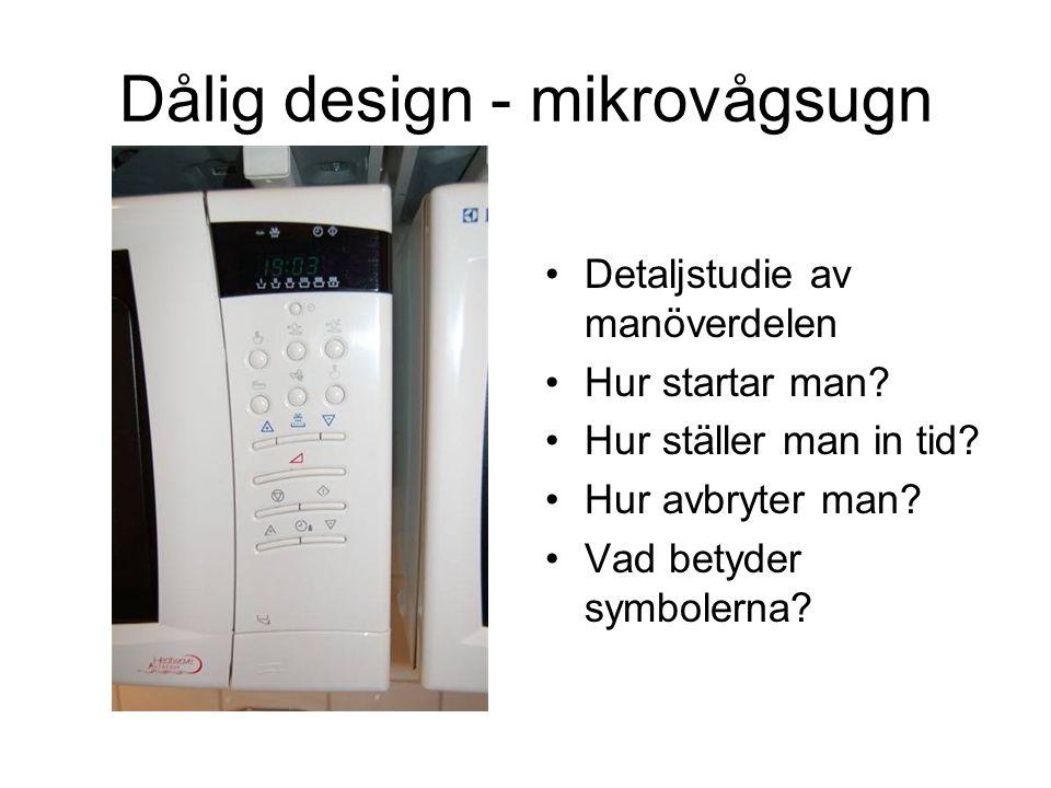 Dålig design - mikrovågsugn