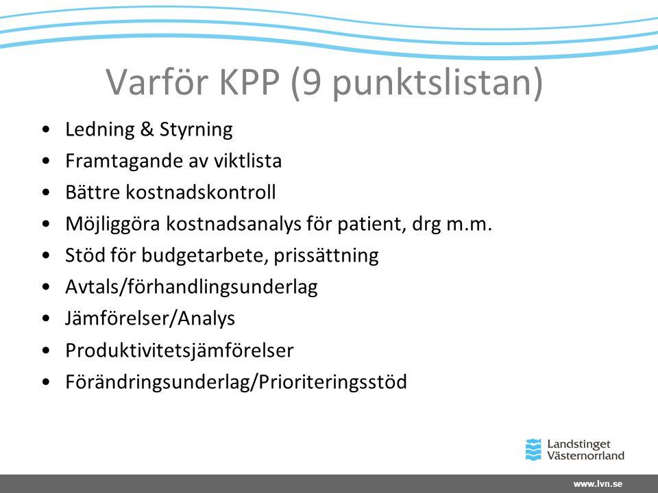Varför KPP (9 punktslistan)