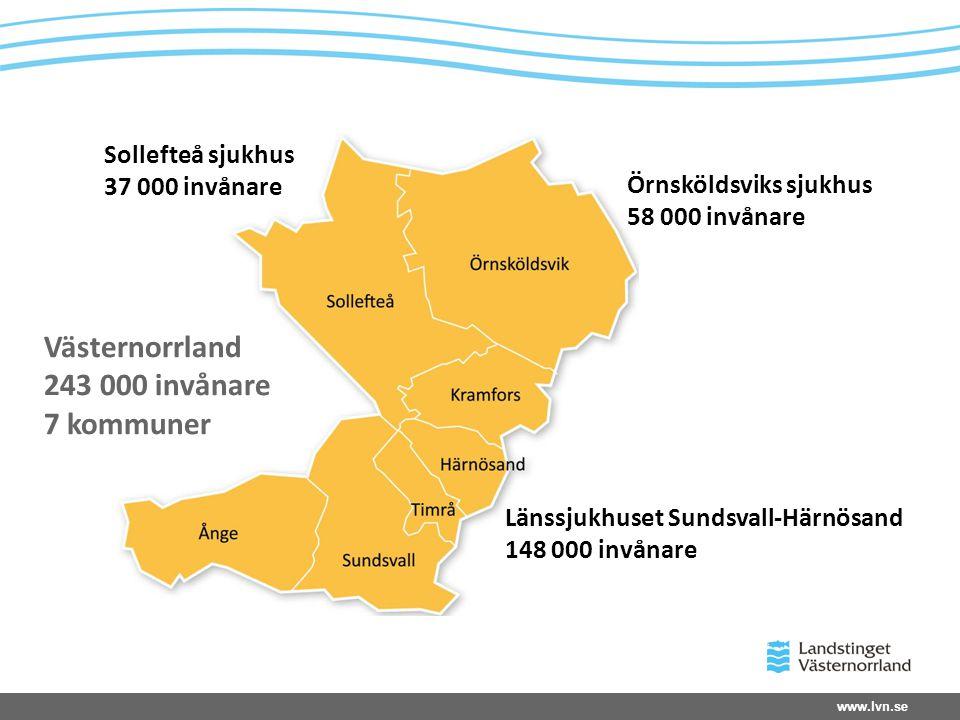 Västernorrland 243 000 invånare 7 kommuner Sollefteå sjukhus