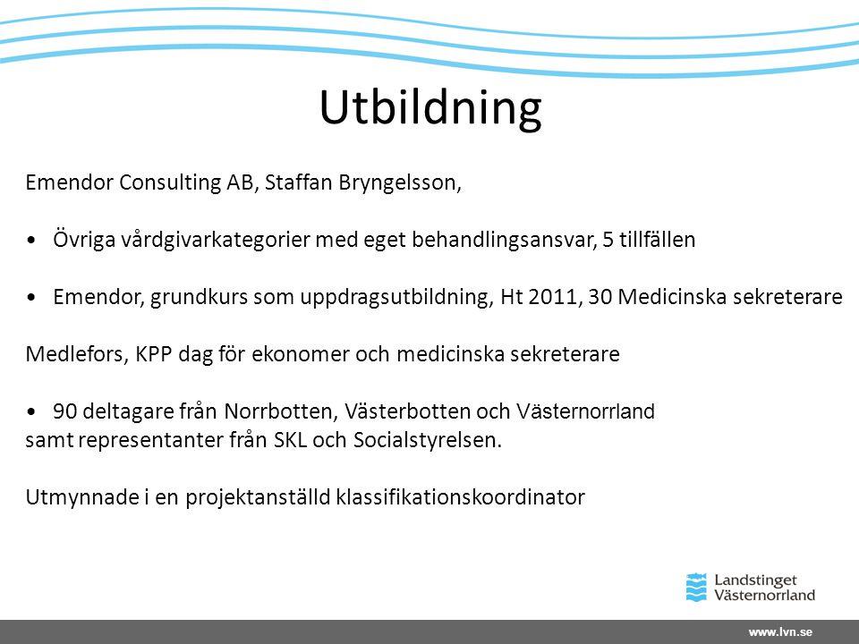 Utbildning Emendor Consulting AB, Staffan Bryngelsson,