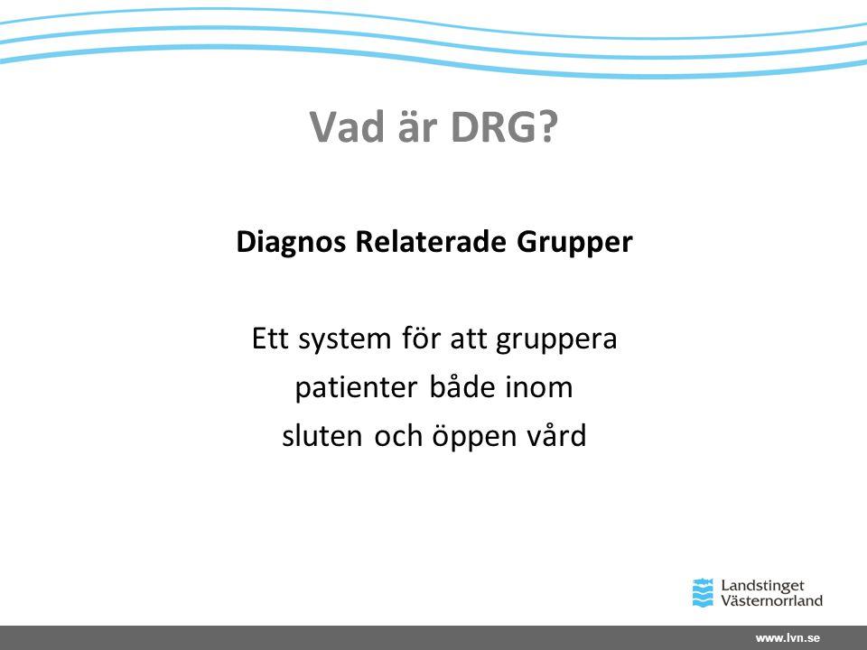 Diagnos Relaterade Grupper