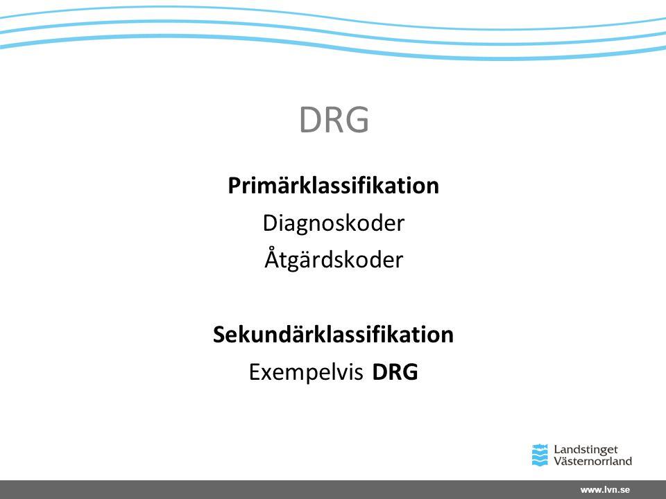 Primärklassifikation Sekundärklassifikation