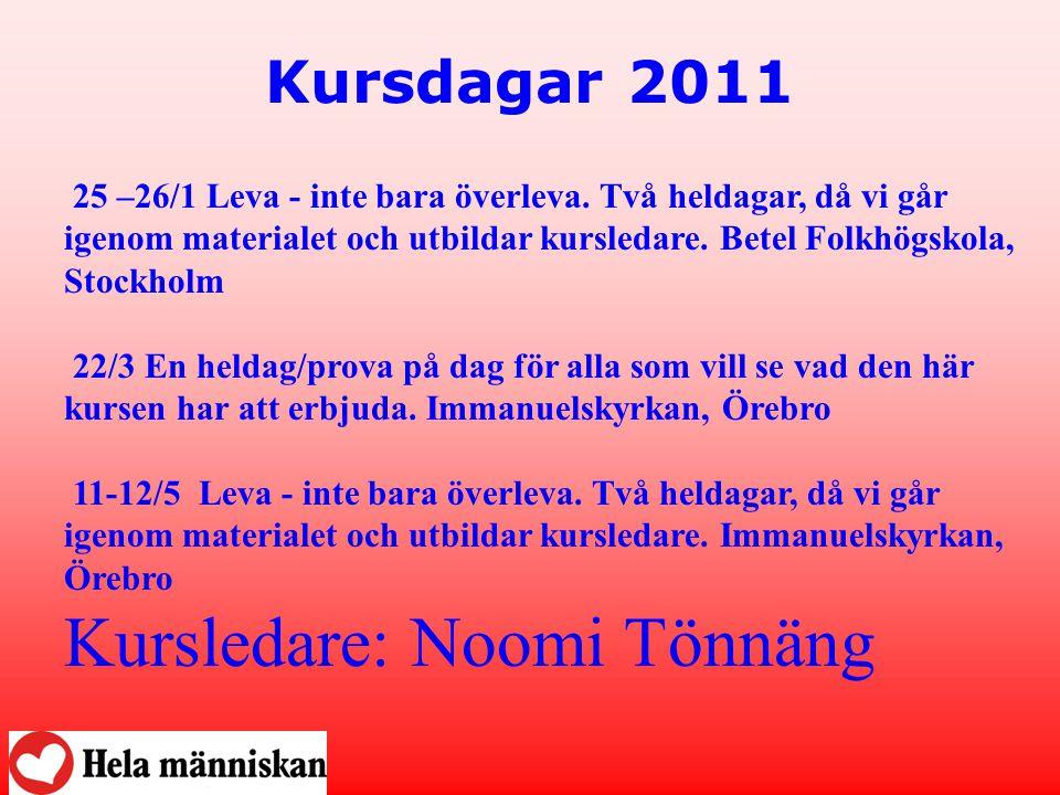 Kursledare: Noomi Tönnäng