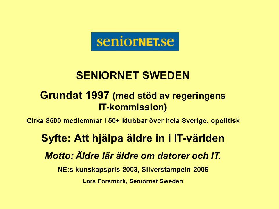 Grundat 1997 (med stöd av regeringens IT-kommission)
