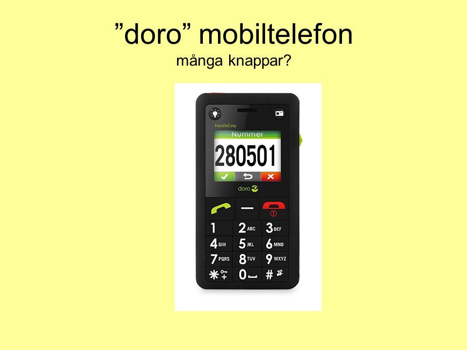 doro mobiltelefon många knappar
