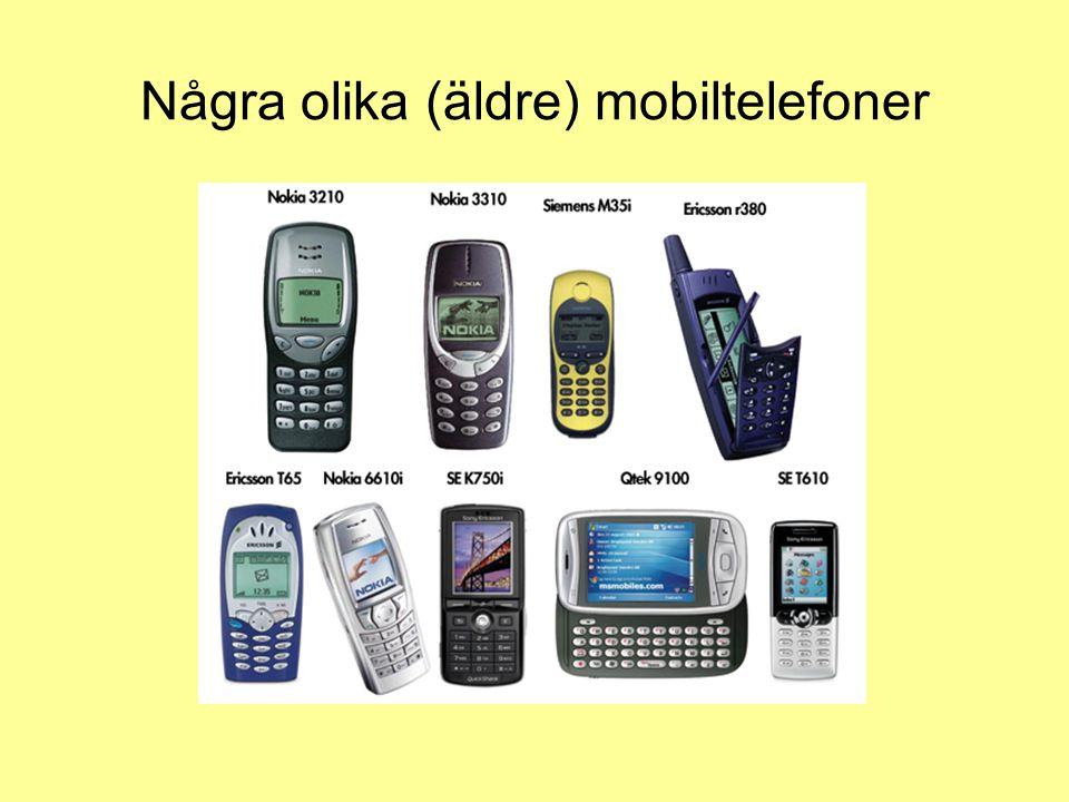 Några olika (äldre) mobiltelefoner