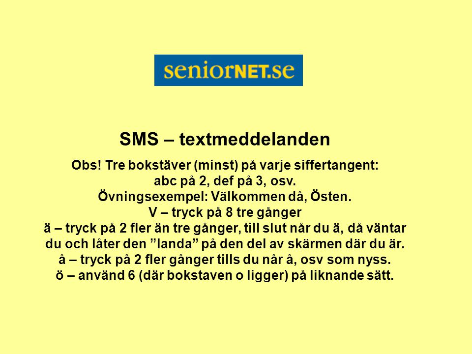 SMS – textmeddelanden