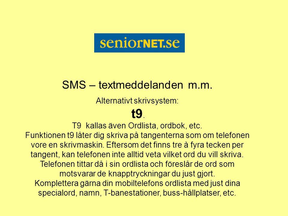 SMS – textmeddelanden m.m.