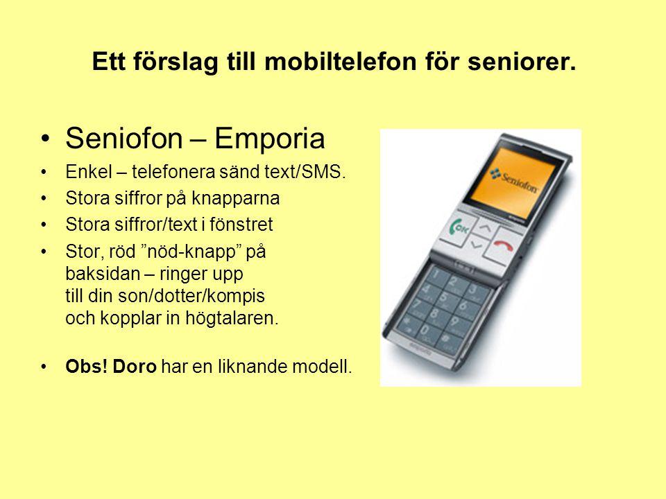 Ett förslag till mobiltelefon för seniorer.