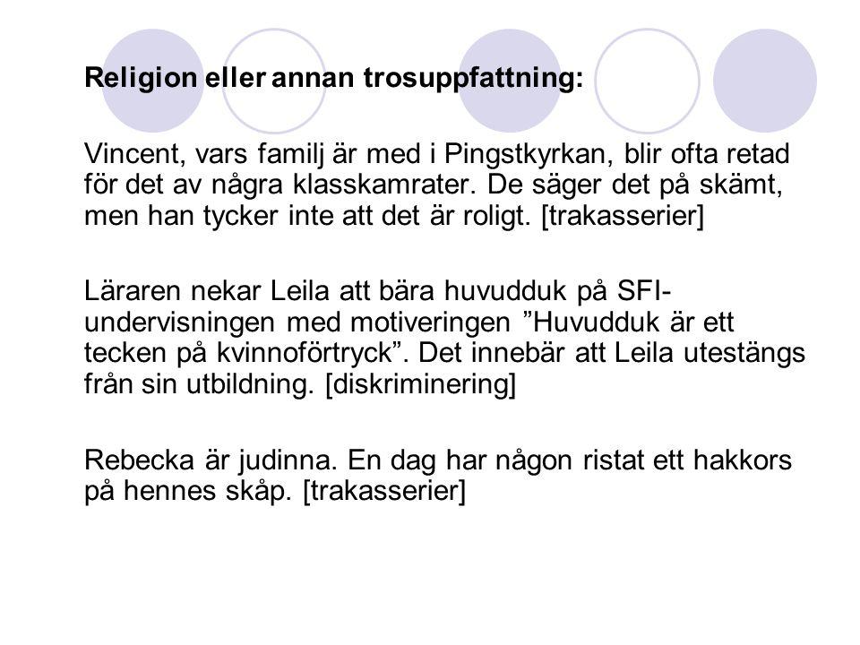 Religion eller annan trosuppfattning: