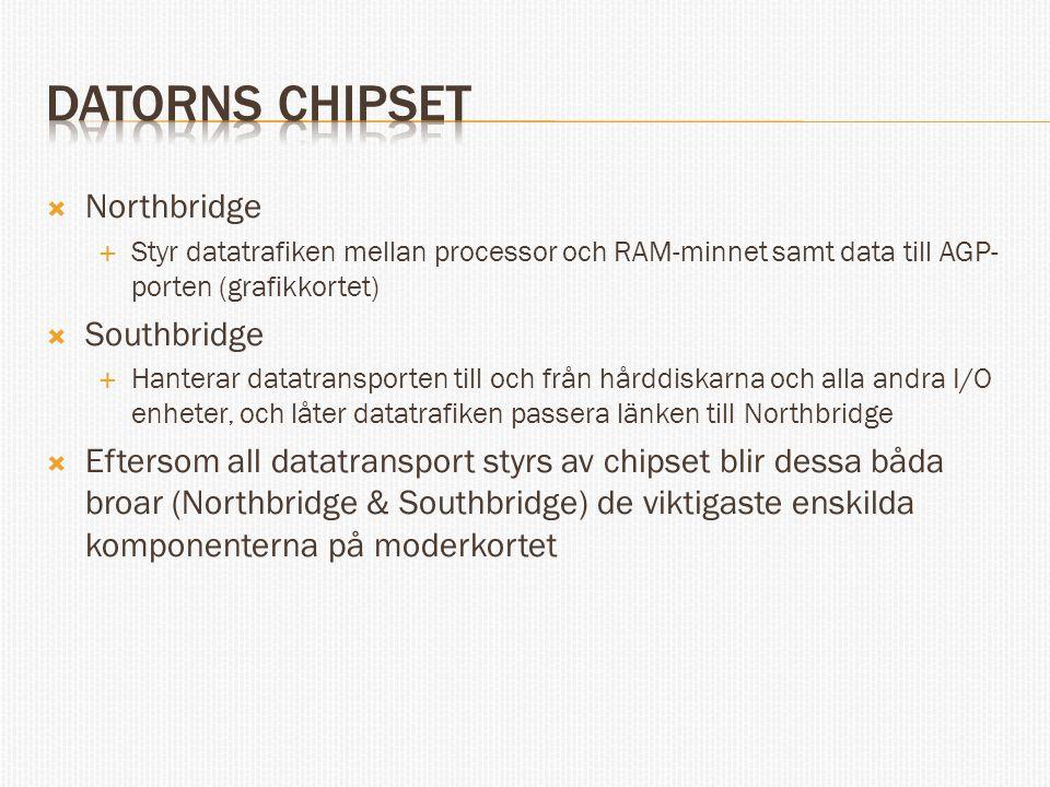 Datorns chipset Northbridge Southbridge