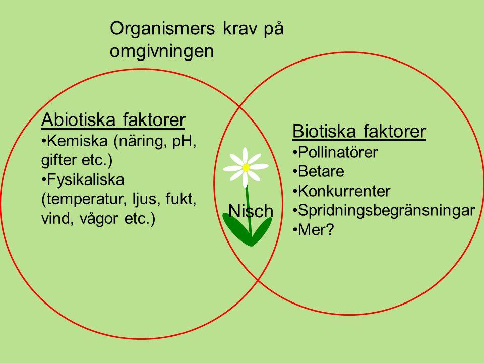 Organismers krav på omgivningen
