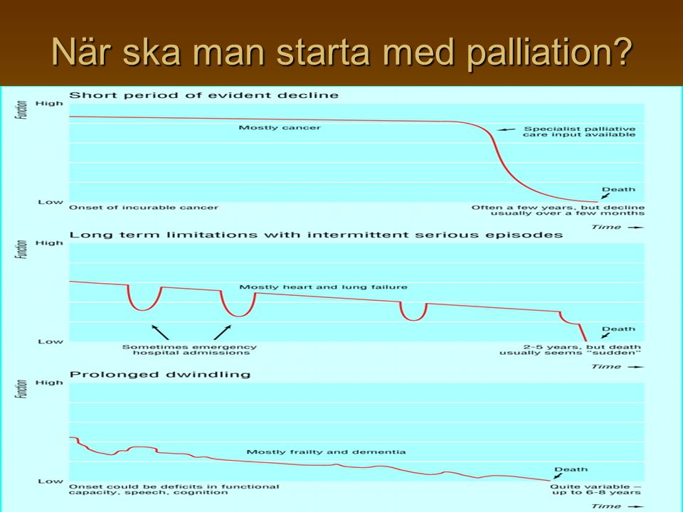 När ska man starta med palliation