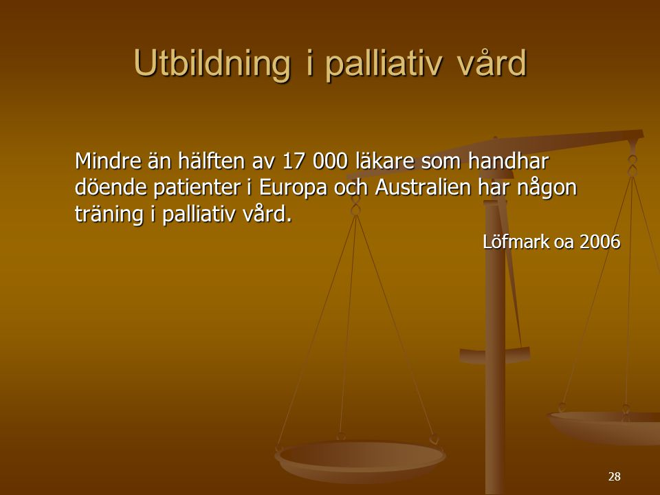Utbildning i palliativ vård