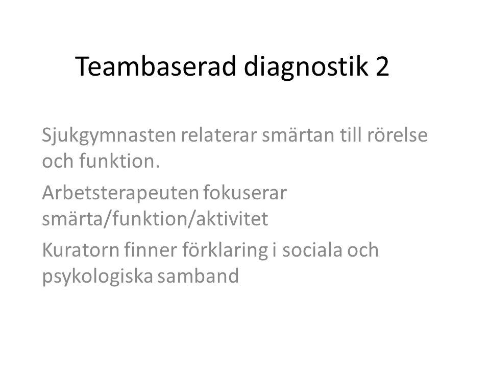 Teambaserad diagnostik 2