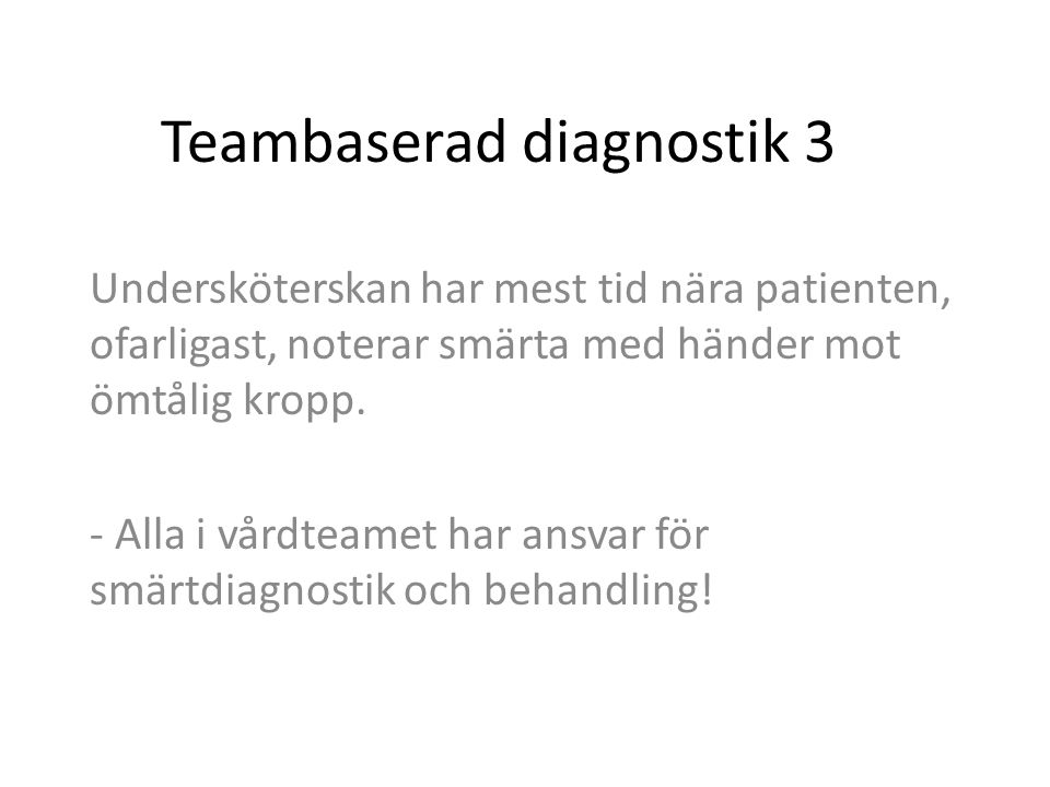 Teambaserad diagnostik 3