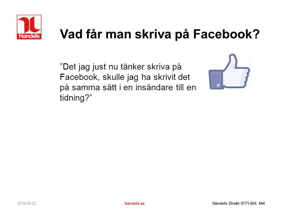 Vad får man skriva på Facebook