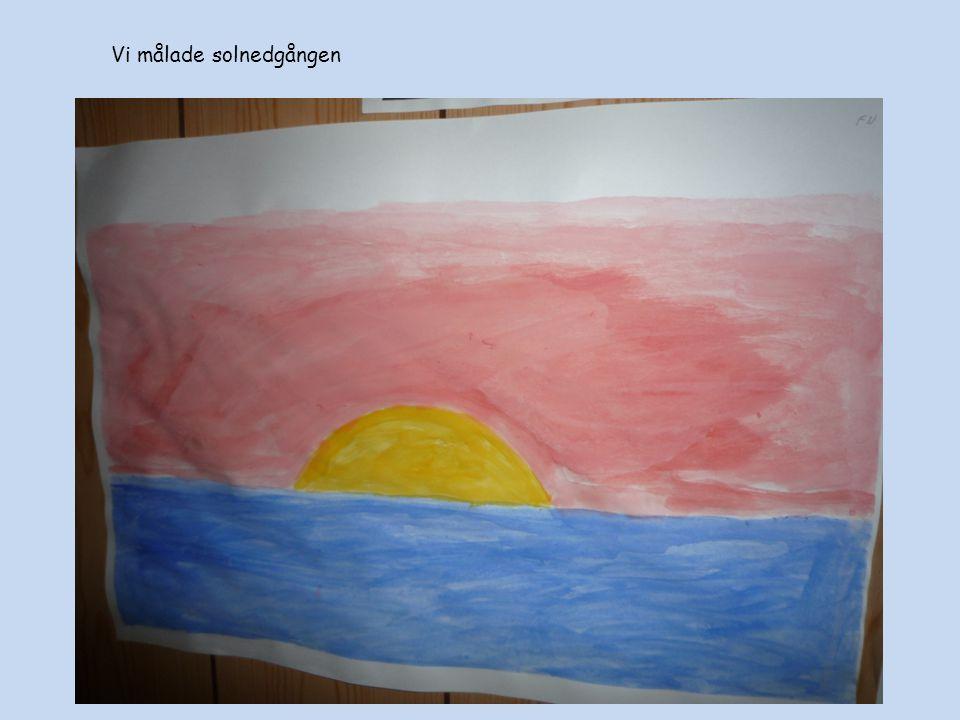 Vi målade solnedgången