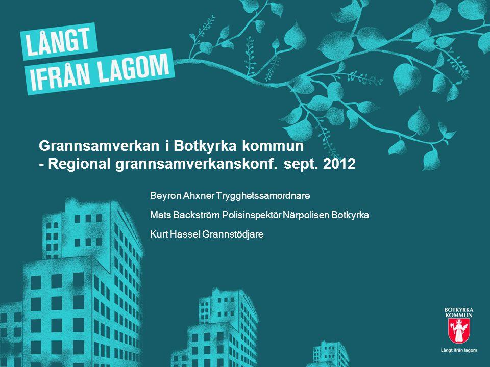 Grannsamverkan i Botkyrka kommun - Regional grannsamverkanskonf. sept