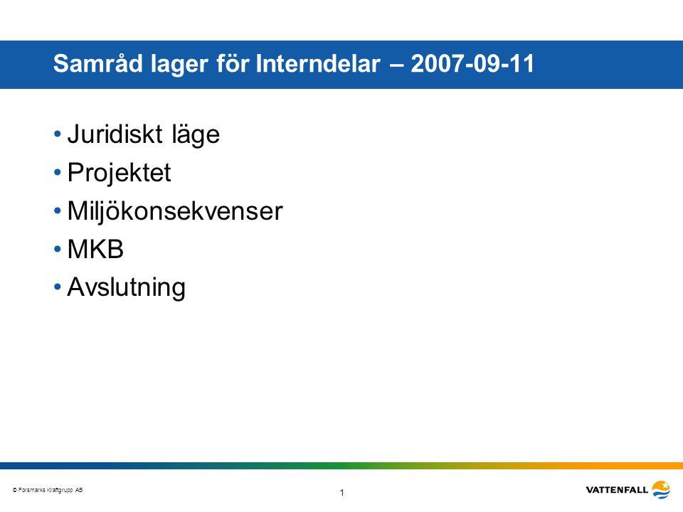 Samråd lager för Interndelar – 2007-09-11