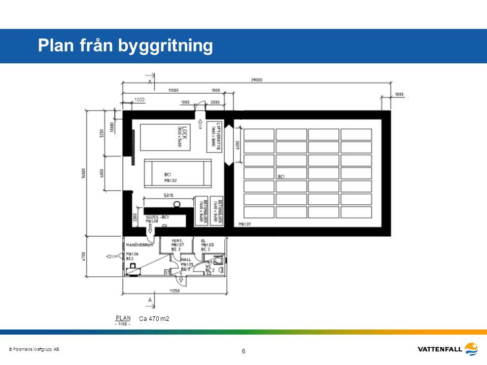 Plan från byggritning 1000 1000 Ca 470 m2