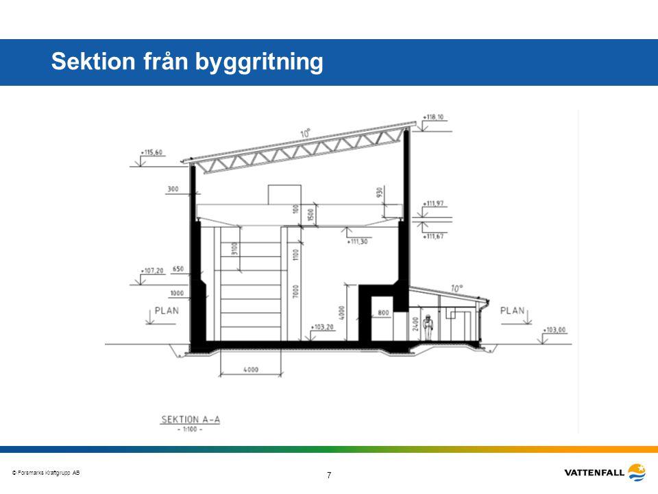 Sektion från byggritning