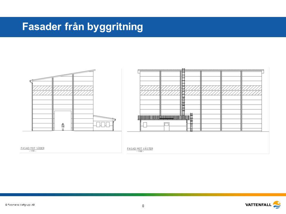 Fasader från byggritning